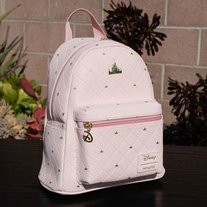 Loungefly Disney Days Castle Pink Mini Backpack